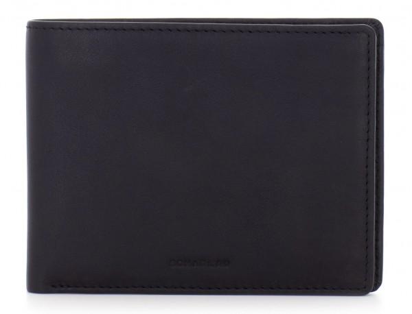 portafoglio in pelle portamonete nero front