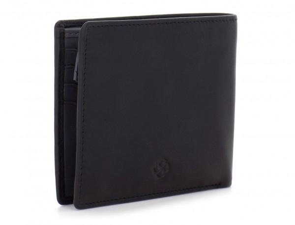 portafoglio in pelle portamonete nero side