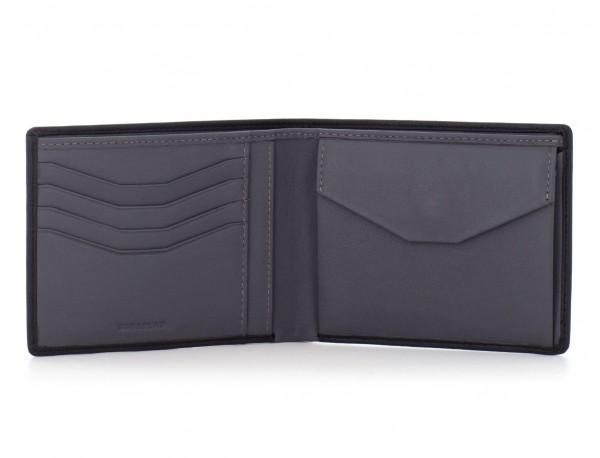 leather wallet men black coin pocket