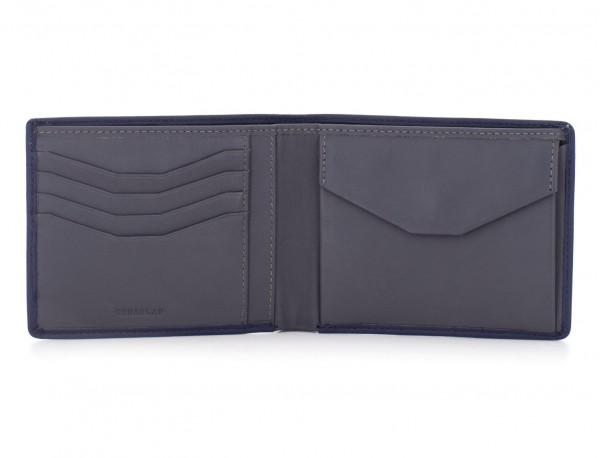leather wallet men black open