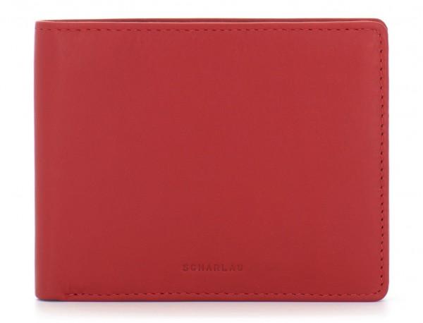 portafoglio in pelle portamonete rosso front