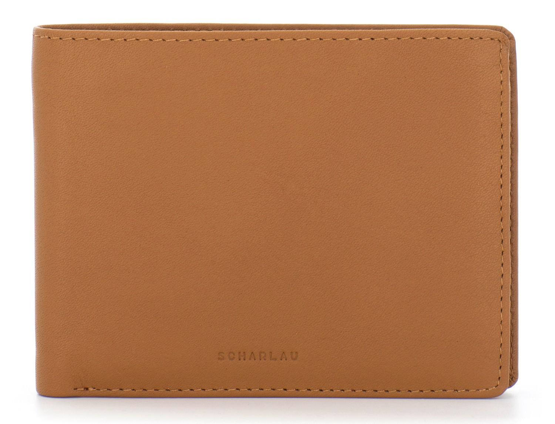 leather wallet men camel front