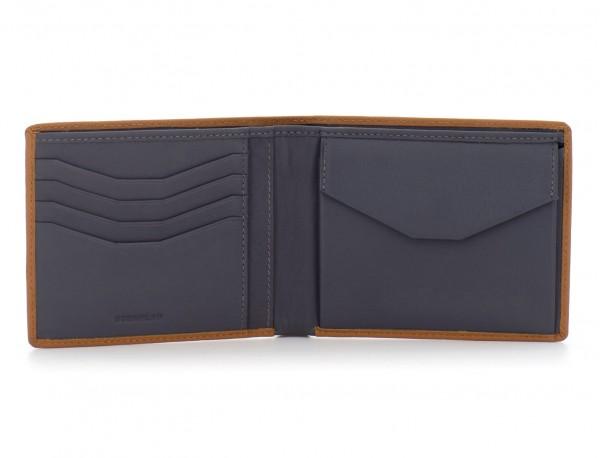 leather wallet men camel inside