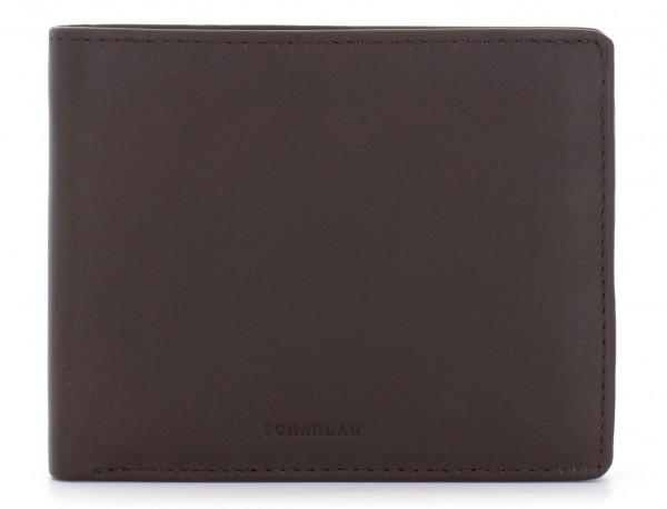 portafoglio in pelle portamonete marrone front