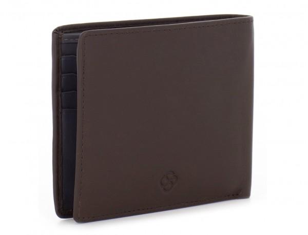 portafoglio in pelle portamonete marrone side
