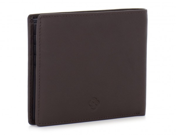 leather men wallet brown side