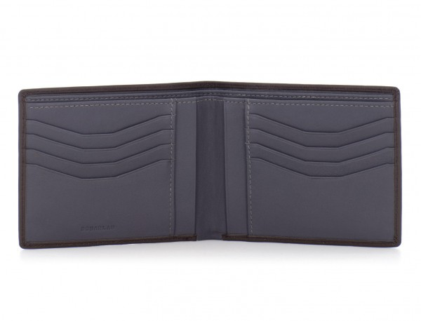 leather men wallet brown open