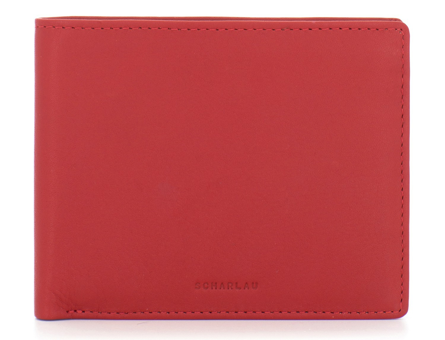leather men wallet red front
