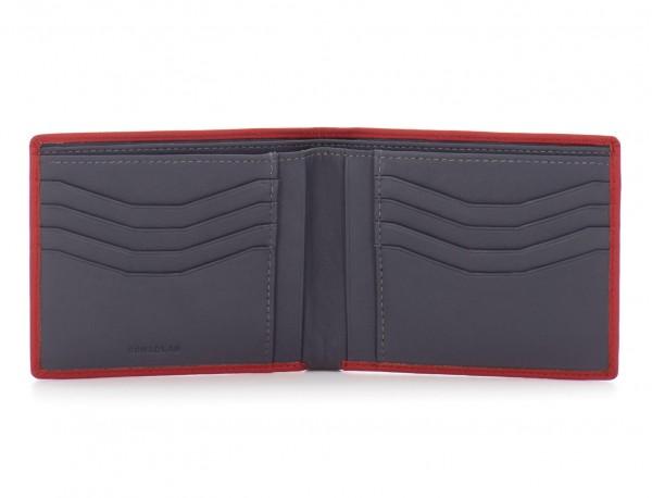 leather men wallet red open