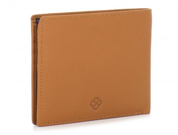 leather men wallet camel side