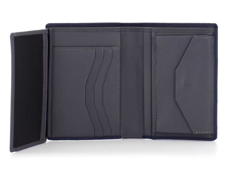 leather wallet black open
