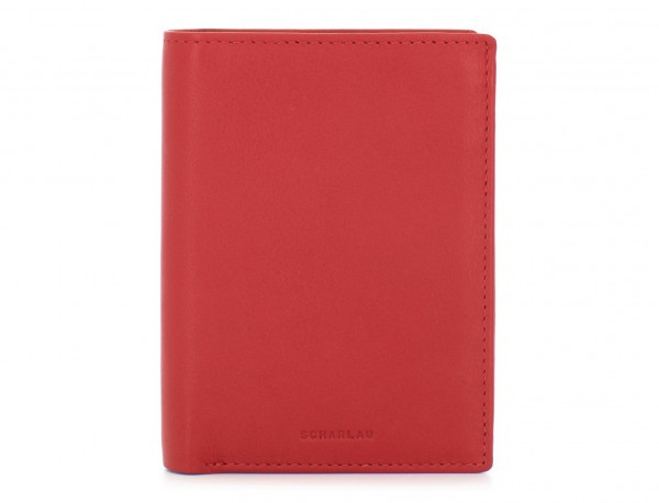 leather wallet red front