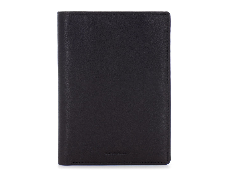 copertura per passaporto in pelle nero front