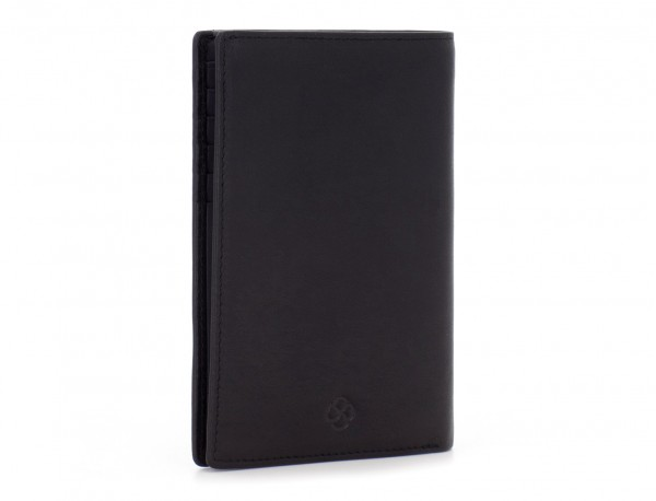 copertura per passaporto in pelle nero side