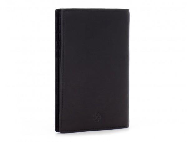leather passport holder wallet black side