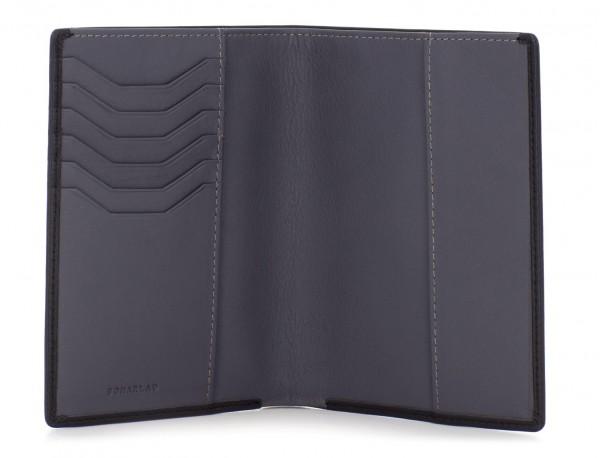 copertura per passaporto in pelle nero