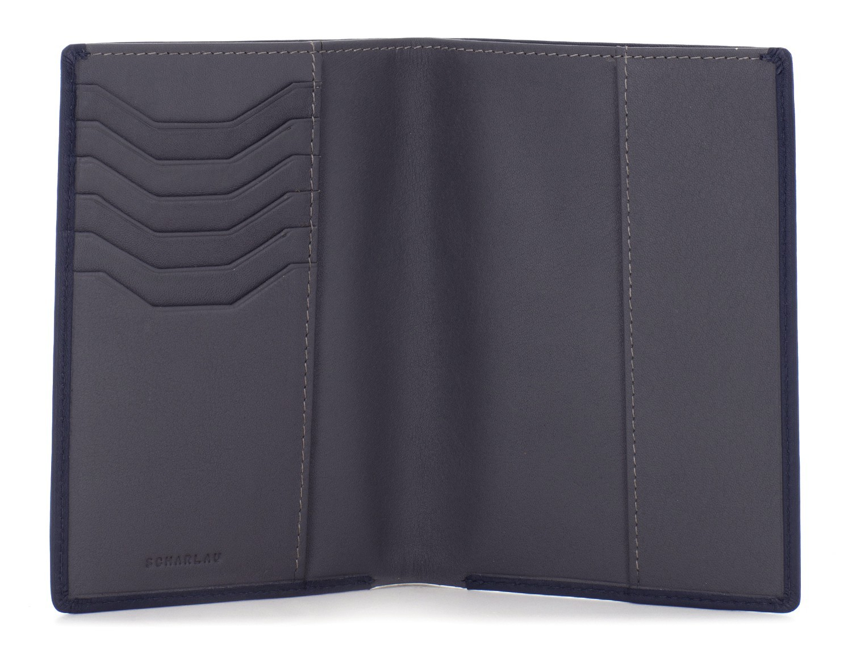 copertura per passaporto in pelle nero open