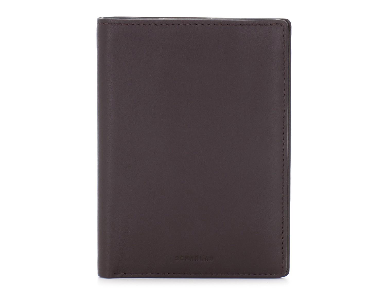 copertura per passaporto in pelle marrone front