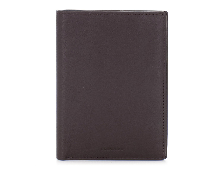 leather passport holder wallet brown front