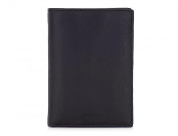 portafoglio in pelle porta carte nero front