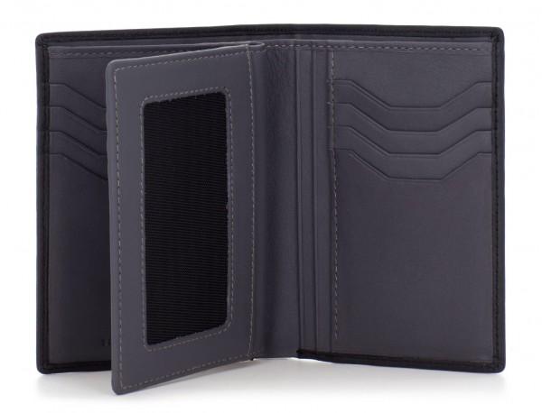 portafoglio in pelle porta carte nero