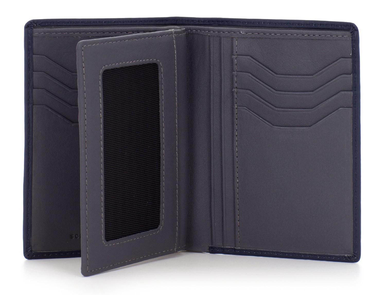 portafoglio in pelle porta carte nero open