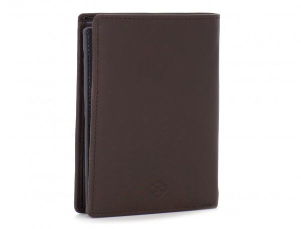 portafoglio in pelle porta carte marrone side