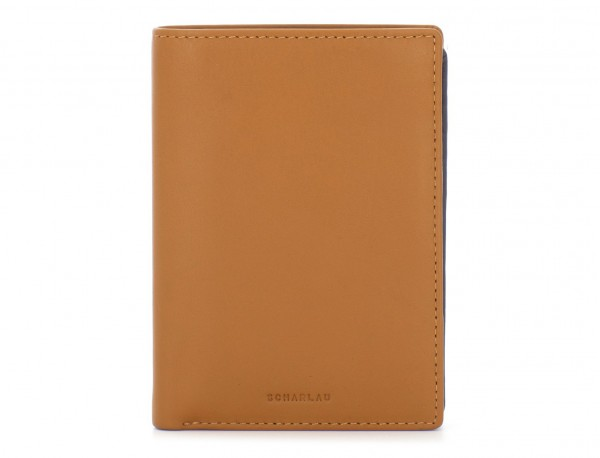 leather wallet camel front