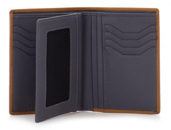 leather wallet camel open