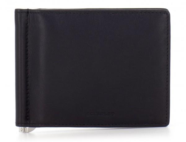 portafoglio in pelle nero front
