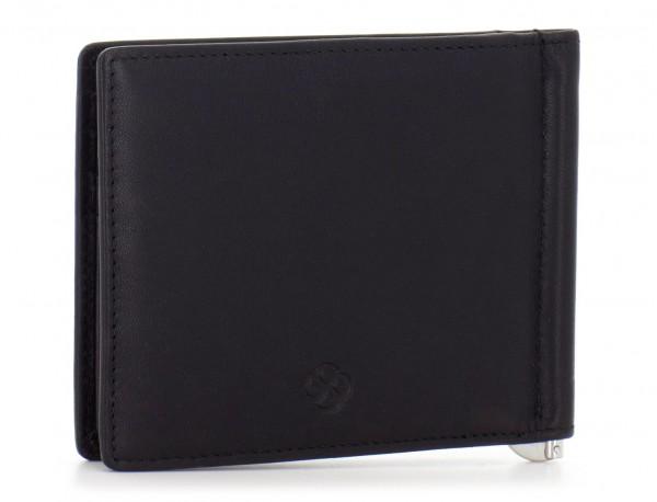 portafoglio in pelle nero side