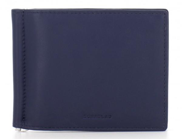portafoglio in pelle blu front