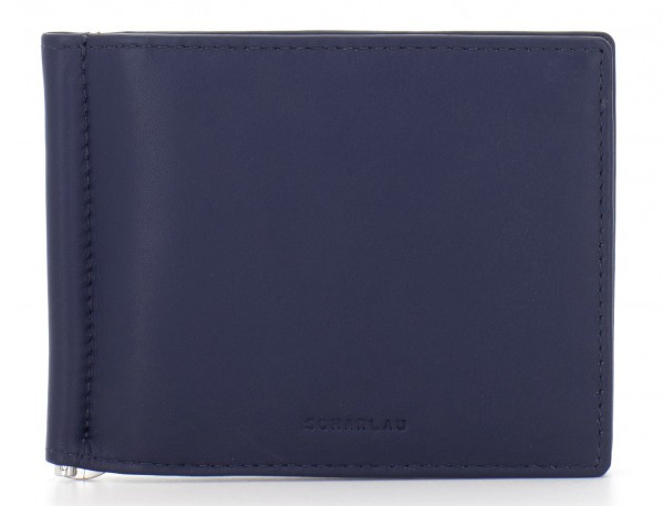 leather wallet blue front