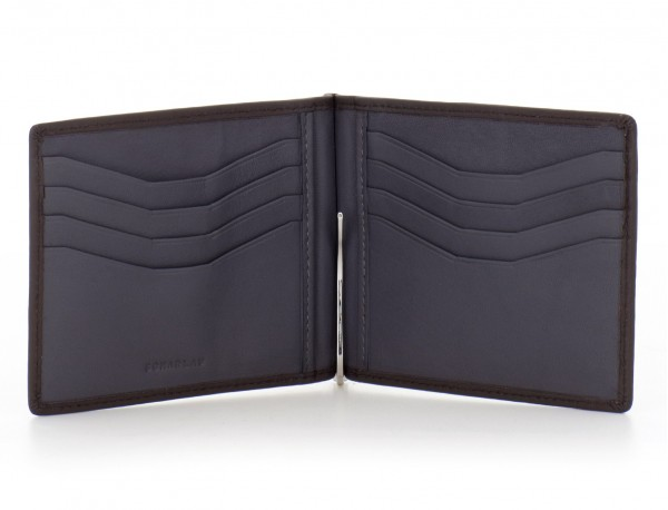 leather wallet brown open