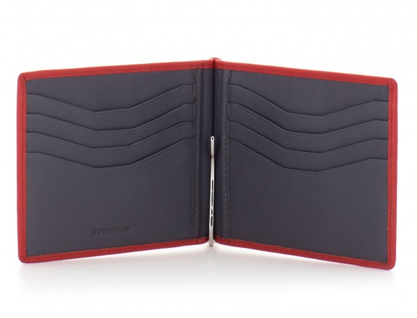 leather wallet red open