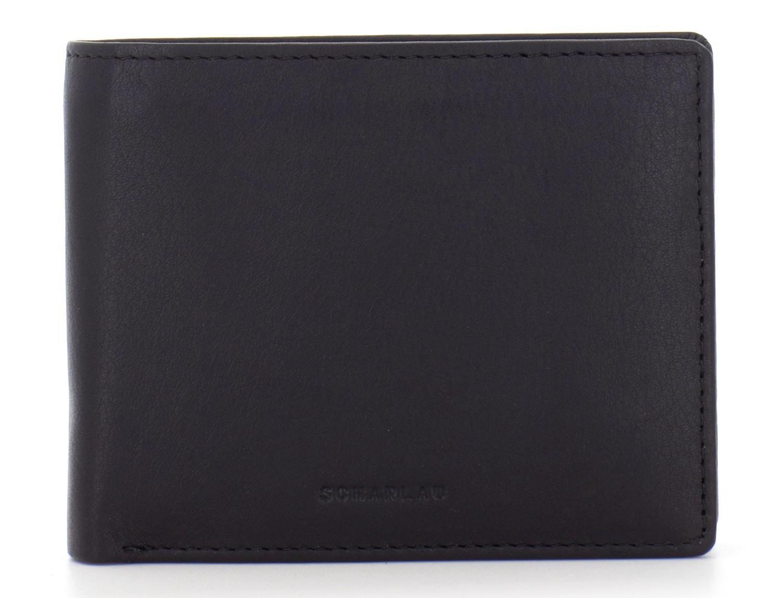 Mini portafoglio per uomo nero front