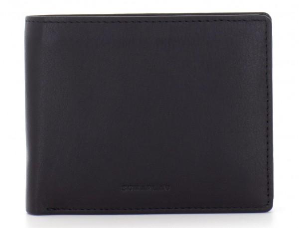 mini leather wallet for men black front