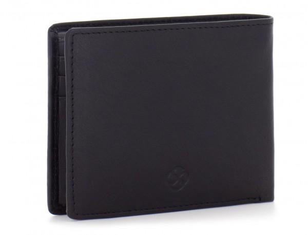 Mini portafoglio per uomo nero side