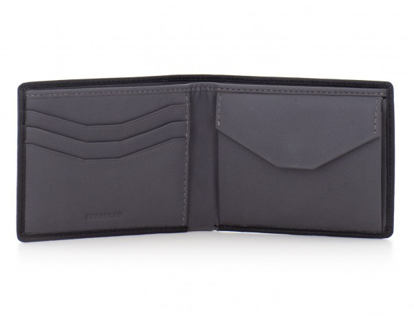 mini leather wallet for men black