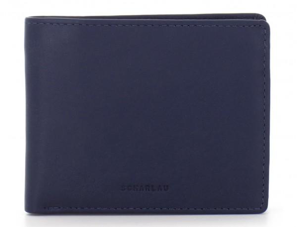 mini leather wallet for men blue front