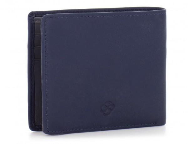 mini leather wallet for men blue side