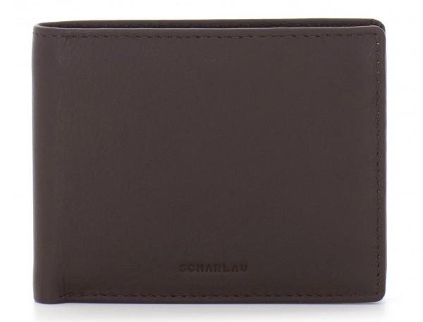 Mini portafoglio per uomo marrone front