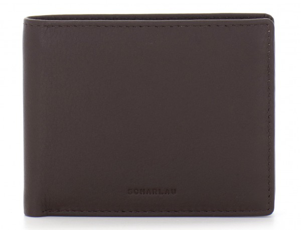 mini leather wallet for men brown front