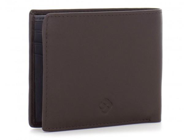 Mini portafoglio per uomo marrone side
