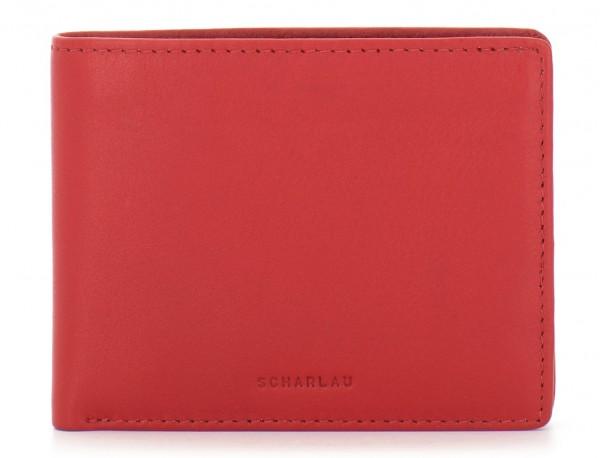 Mini portafoglio per uomo rosso front