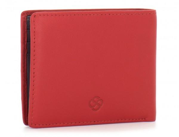 Mini portafoglio per uomo rosso side