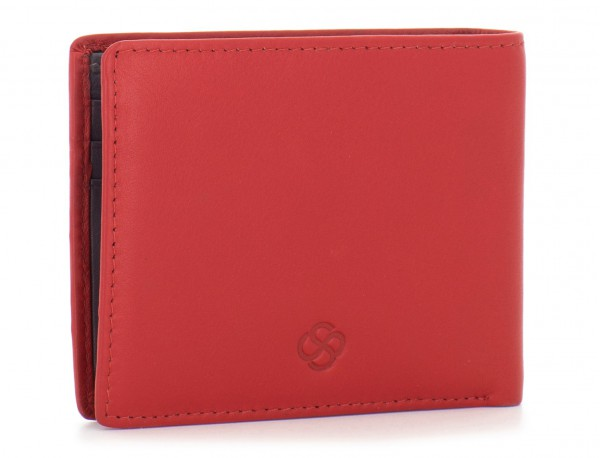 mini leather wallet for men red side