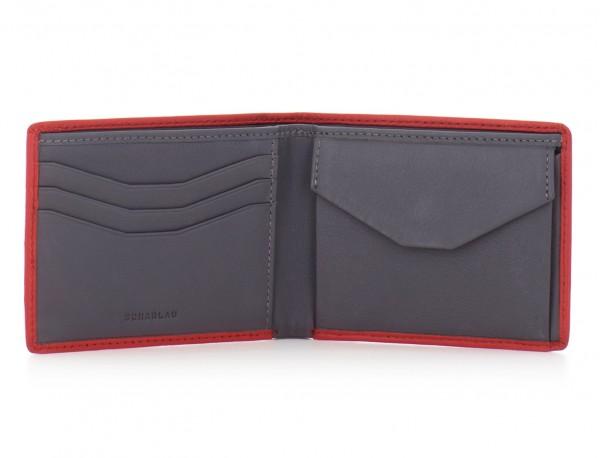 Mini portafoglio per uomo rosso open