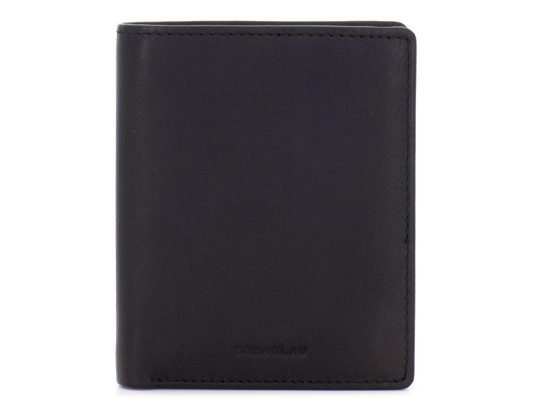 billetero de cuero  porta tarjetas negro frontal