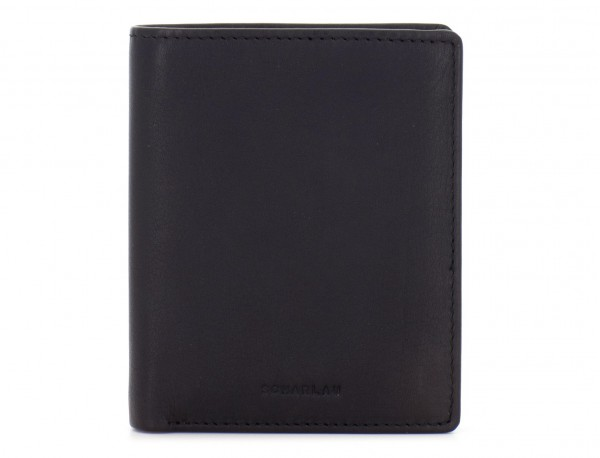 small leather wallet for men black frontal